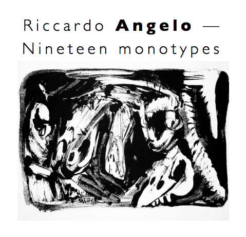 Cover of exhibition catalogue: Riccardo Angelo — Nineteen monotypes