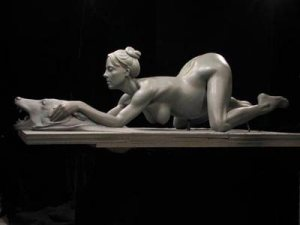 Daniel Edward's sculpture of Britney Spears.