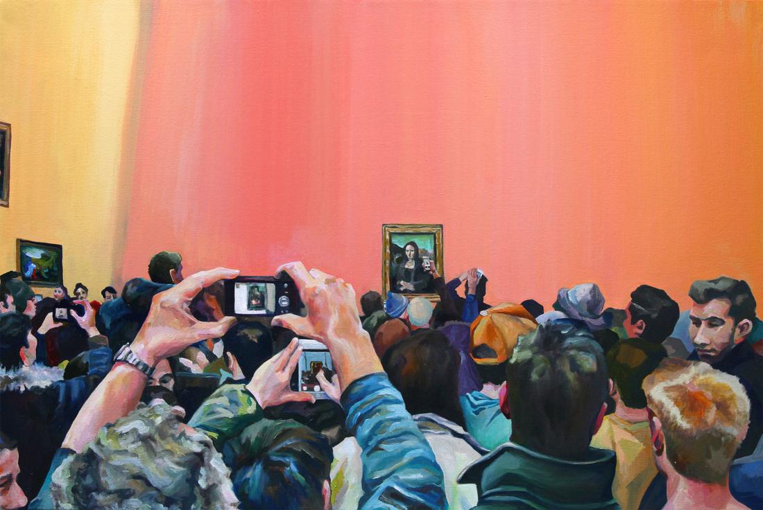"""Michelle Ramin, 'Mona Lisa IRL' [Oil on Canvas, 26"""" x 38"""", 2016]"""