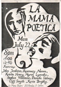 La Mama poster from 1980s.
