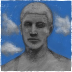 Study of von Hildebrand statue [20170805 drawing, 297x297mm]