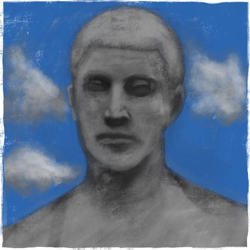 Study of Hildebrand statue [20170805 drawing, 297x297mm]