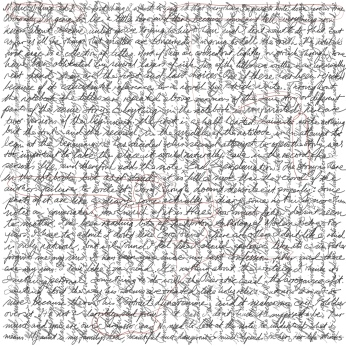 Mystic writing pad 1 [drawing, 297mm x 297mm] incorporates 'Since Jerusalem' by Stephen J. Williams.