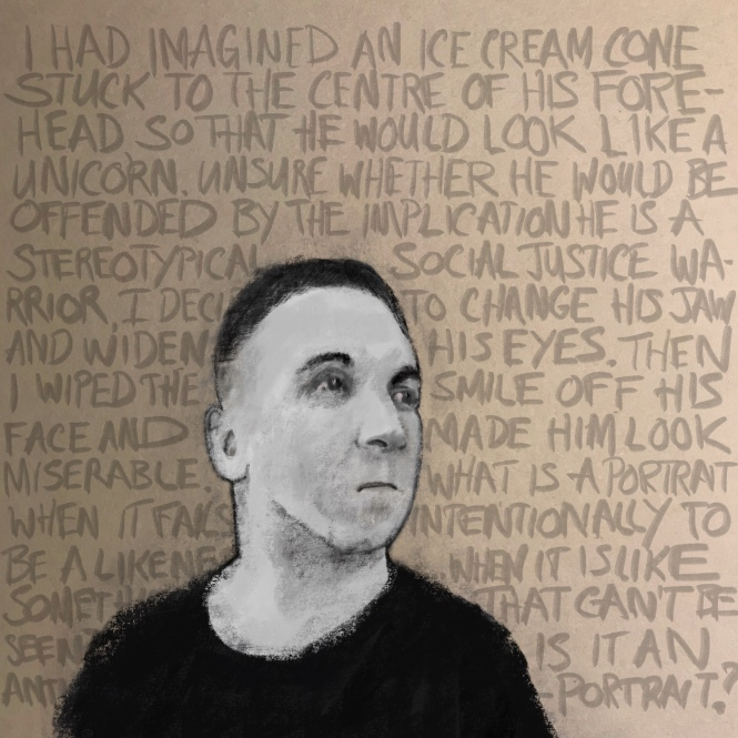 Anti-portrait [20190105 drawing, 1000x1000mm]
